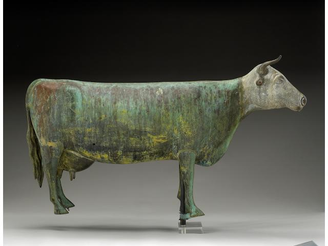 An American zinc and copper cow weathervane<br><i>Late 19th Century</i>