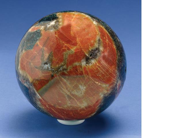 ORANGE CALCITE SPHERE, BRAZIL.