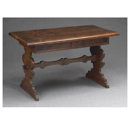 An Italian Baroque walnut table