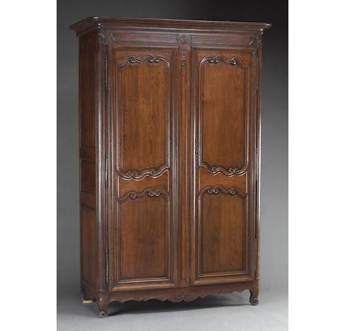 A Louis XV oak armoire