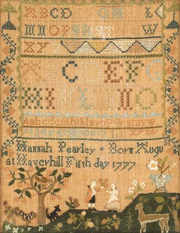 An American needlework sampler<br>Hannah Pearly