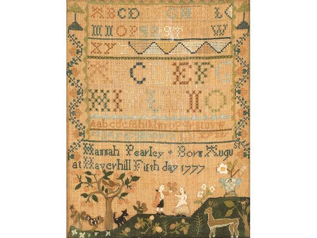 An American needlework sampler Hannah Pearly