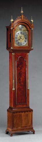A Federal Parcel Gilt Inlaid Mahogany Mirror