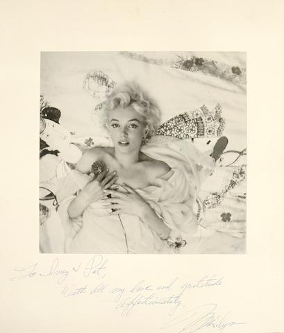 M. Monroe signed photo