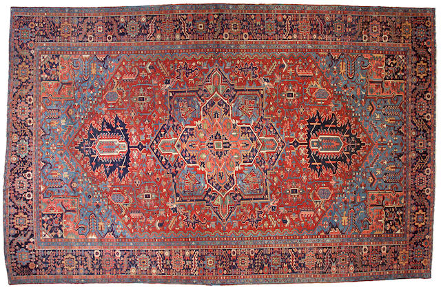 A Heriz carpet Northwest Persia,