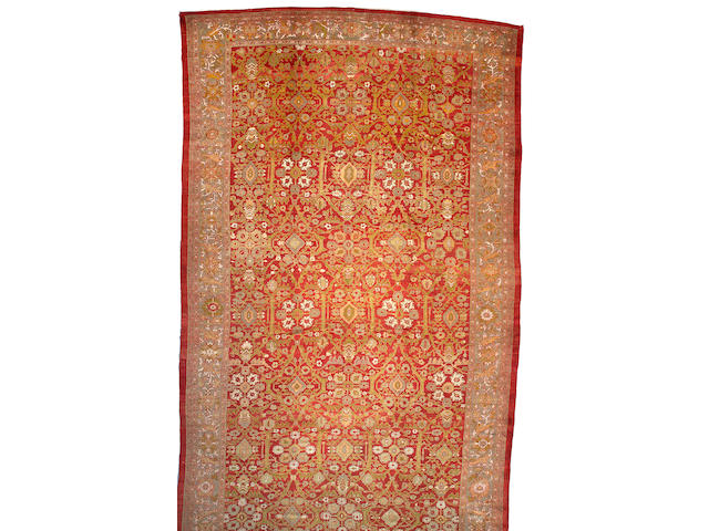 A Sultanabad carpet Central Persia, Size approximately 13ft 3in x 24ft 2in