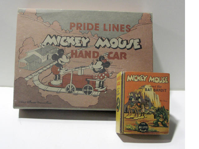A Pridelines MM handcar and book