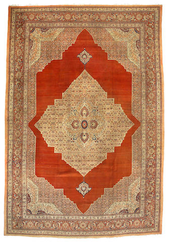 A Hadji Jalili Tabriz carpet Northwest Persia, Size approximately 11ft 4in x 16ft 8in
