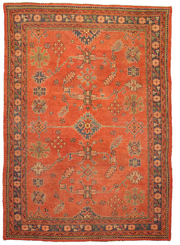 An Oushak rug West Anatolia, Size approximately 6ft x 9ft