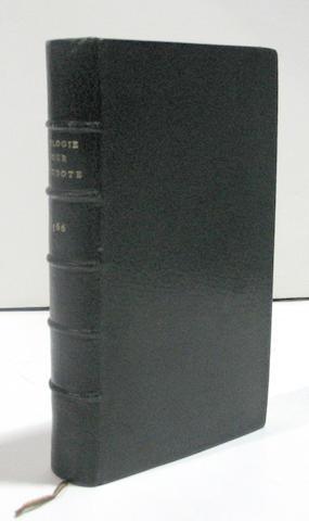 Etienne, Henri. L'Introduction au traite de la conformite des merveilles anciennes avec les modernes. [Geneva], 1566.