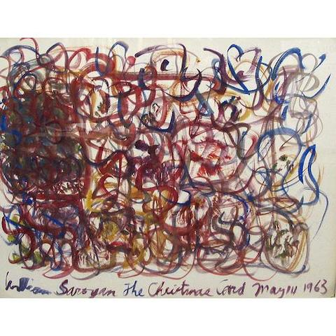 William Saroyan (American 1908-1981) The Christmas Card, 1963 30 x 37 inches
