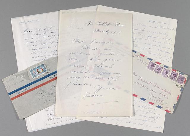 A Maria Callas archive of correspondance