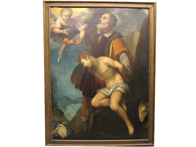 After Ludivico Cigoli (Italian) The sacrifice of Isaac 69 x 50 1/4in (175.3 x 127.6cm)