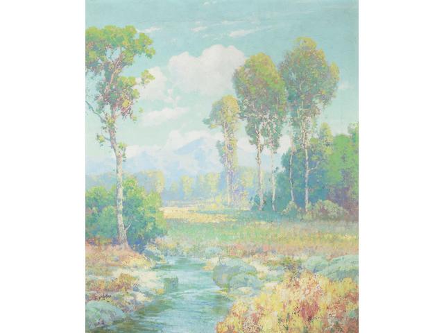 Maurice Braun (1877-1941) Springtime 24 x 20 1/4in