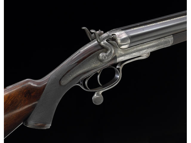 A 12 bore Holland & Holland underlever hammer double rifle