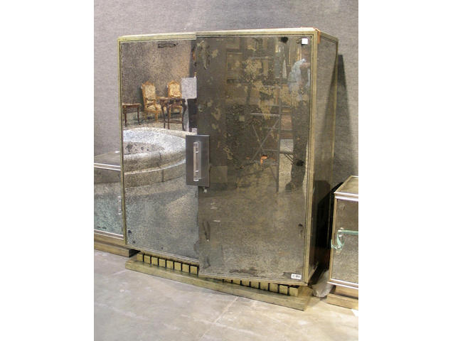 An Art Deco mirrored cabinet