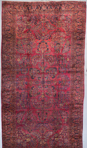 A Sarouk carpet Central Persia Size approximately 11ft 1in x 21ft 9in