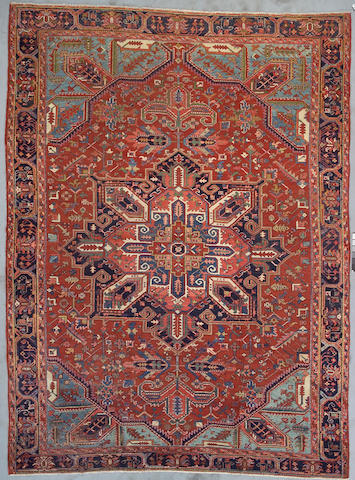 A Heriz carpet Northwest Persia, Size approximately 12ft 10in x 9ft 7in