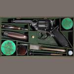 A cased English Tranter's patent revolver