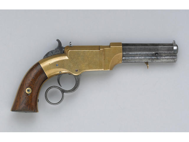 A Volcanic lever action No. 1 pocket pistol by New Haven Arms