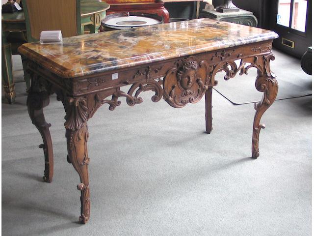 A fine Régence oak table de milieu