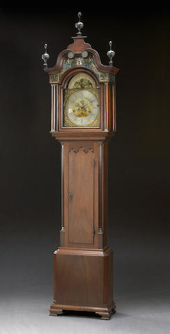 A George III mahogany musical tall case clock Benjamin Barlow, Oldham Second half 18th century