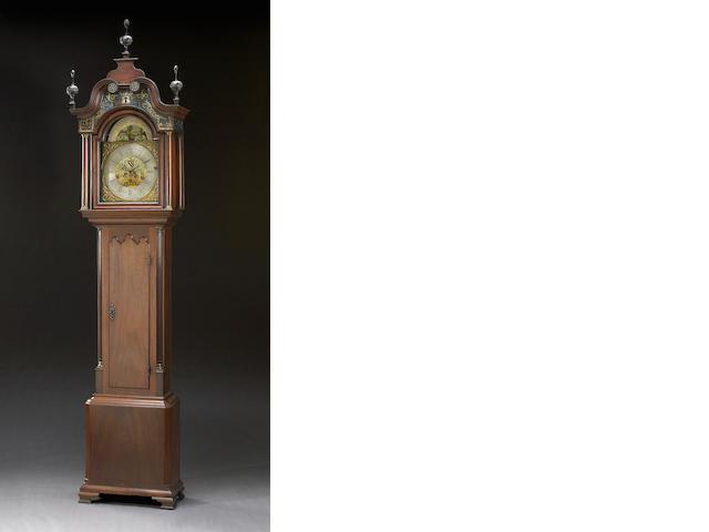 A George III mahogany musical tall case clock<br><i>Benjamin Barlow, Oldham<br>Second half 18th century</i>