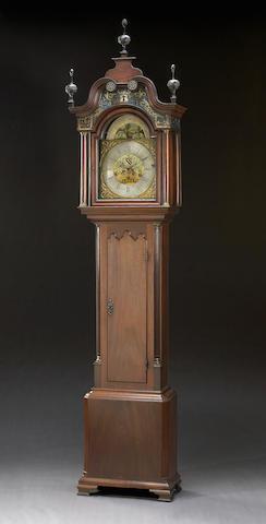 A George III mahogany musical tall case clock Benjamin Barlow, Oldham Second half 18th century