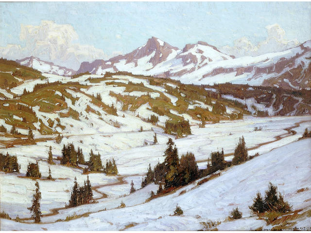 William Wendt (1865 – 1946) Winter – Mt. Rainier, Paradise Valley, 1913 30 x 40in