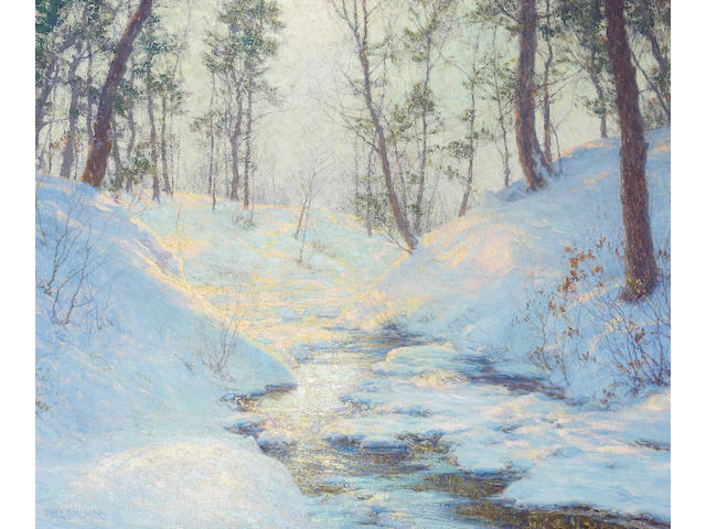 Walter Launt Palmer (1854-1932) Sunlit Dell 25 x 30in