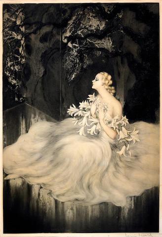 Louis Icart; Lilies;