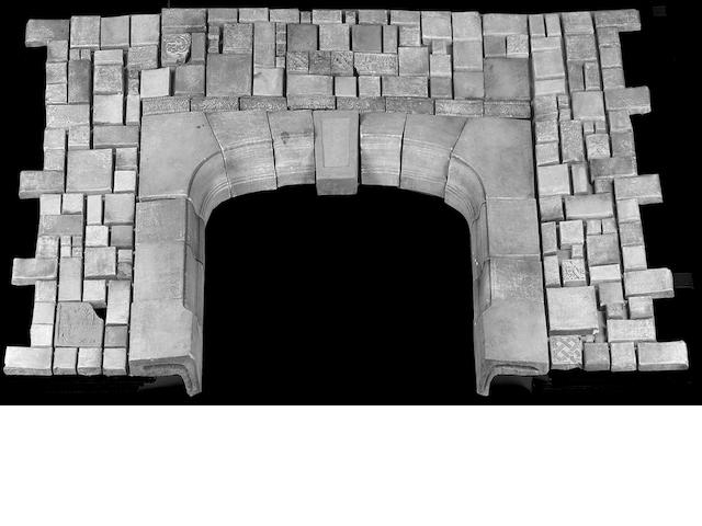 Batchelder Tiled Fireplace Surround