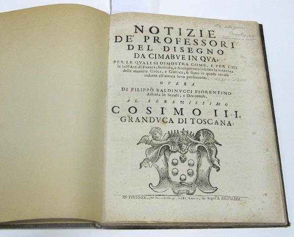 BALDINUCCI, FILIPPO. 1625-1696.