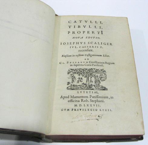 CATULLUS, GAIUS VALERIUS, TIBULLUS, ALBIUS & SEXTUS PROPERTIUS.