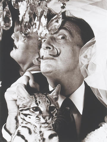 Edward Pfizenmaier; Salvador Dalí with Ocelot;