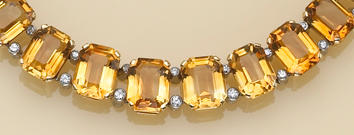 A suite of citrine, diamond and eighteen karat gold and platinum jewelry,
