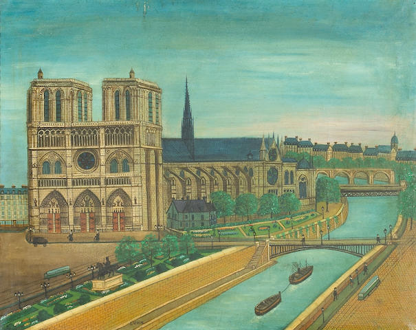 Louis Vivin (French, 1861-1936)<br>Notre Dame 20 x 25in (51 x 63 1/2cm)