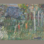 Jan Cybis, (2) Warszawa, Forest, both oil on canvas.