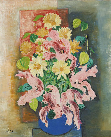 Moise Kisling, Still Life, ca. late 1930's, signed l/l, Provenance:A L'Ancien Broyeur, Paris, Acquired from the above by the mother of the present owner, Private Collection, Sacramento