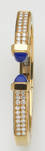 A set of diamond, lapis lazuli and eighteen karat gold jewelry, Audemars Piguet,