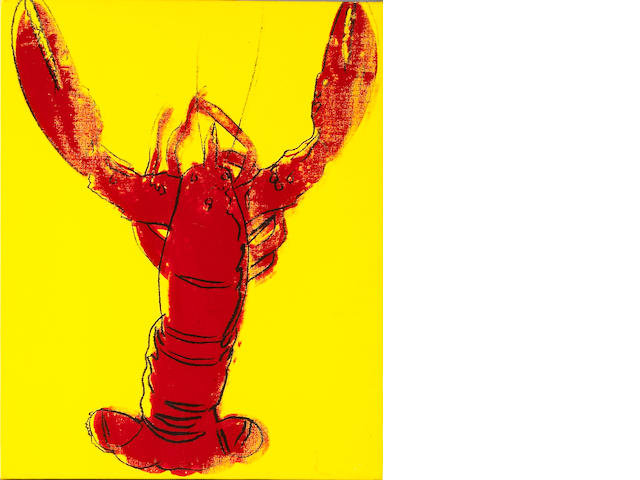 Andy Warhol  (American, 1928-1987)<br>Lobster, 1982 20 x 16in (51 x 40½cm)