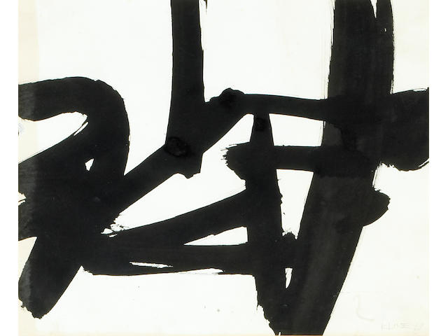 Franz Kline (American, 1910-1962) Untitled, 1952 13 x 15½in (33 x 39½cm)