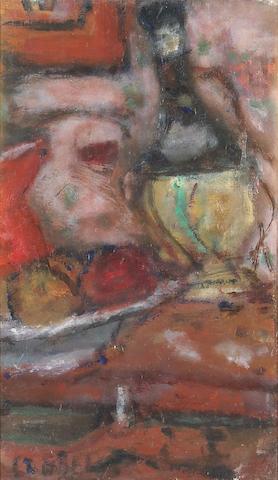 Bela Adalbert Czobel (Hungarian, 1883-1975)<br>Chianti, 1957 19 x 12in (48 x 30cm)