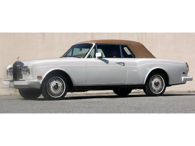 A 1988 Rolls-Royce Corniche drop head coupe Coachwork by Mulliner Park Ward Serial #SCAZD02A8CX23166