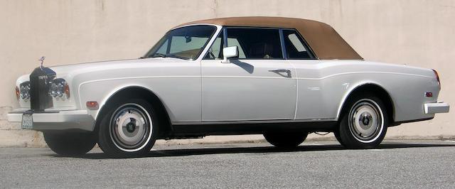 A 1988 Rolls-Royce Corniche drop head coupe Coachwork by Mulliner Park Ward Serial #SCAZD02A8CX23166