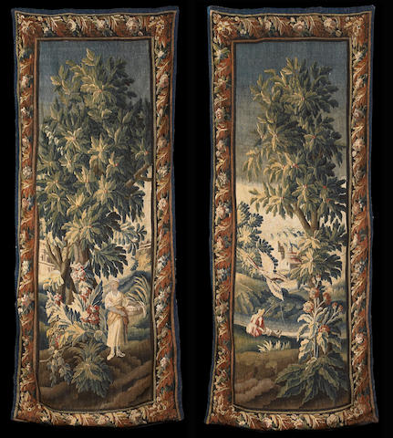 A pair of Aubusson tapestry panels Late 17th/early 18th century