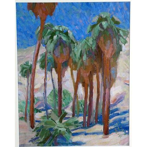 Edouard Antonin Vysekal (American, 1890-1939) Palm Canyon 19 1/4 x 14 3/4in