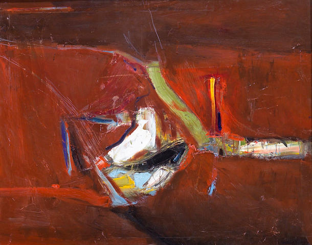 Nathan Oliveira (American, b. 1928)<br>Motherlode, 1958 48 x 60in (122 x 153cm)