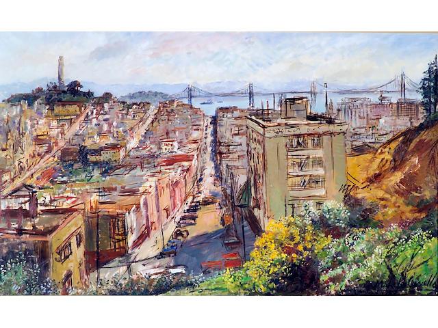 Michele Cascella (Italian 1892-1989) A view of San Francisco 30 x 50in (76 x 127cm)