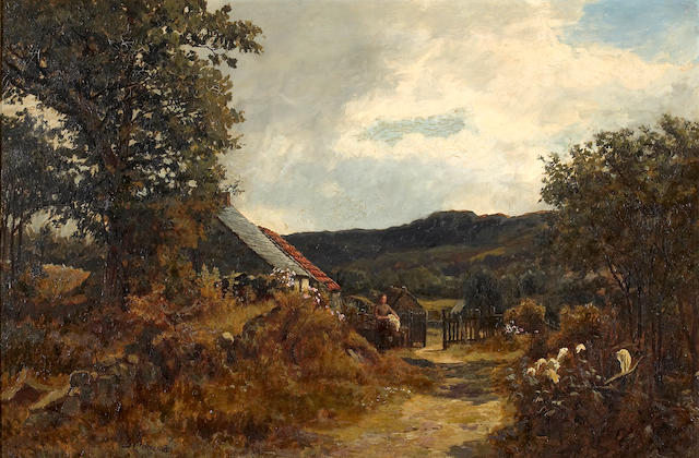 Duncan Cameron (British 1837 - 1916)  A hilly landscape 20 x 30 in. (50.8 x 76.2 cm.)